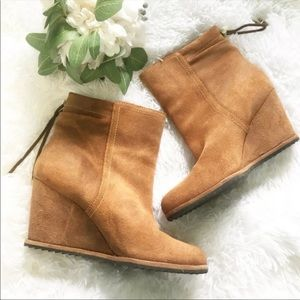 Dr. Scholl's Ireland Wedge Booties New,Sz 8.5 NWOT
